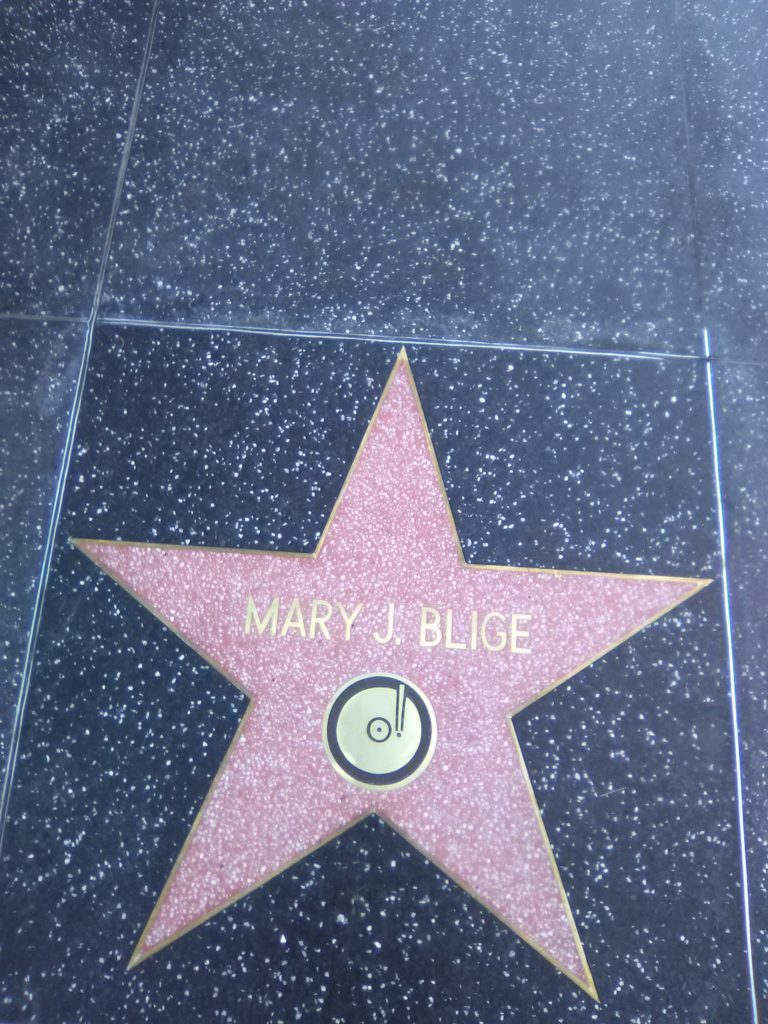 Mary J. Blige Walk of Fame. PHOTO: YEVETTE RENEE