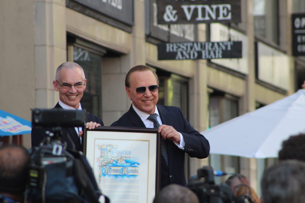 Tommy Motolla Hollywood Walk of Fameceremony with Councilman Mitch O' Farrell. Photo: Yevette Renee