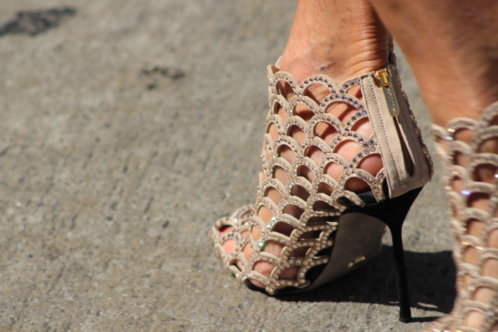 Lili Estefan's beautiful shoes at Tommy Mottolla's Walk of Fame ceremony. Photo: Yevette Renee