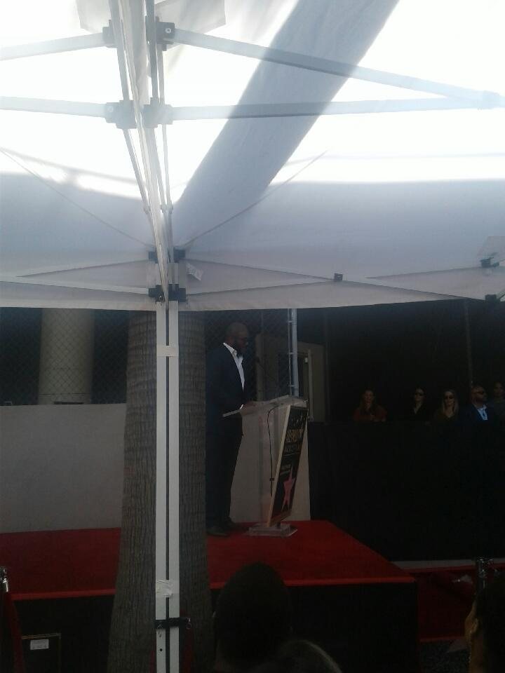 Tyler Perry' speaking at his Hollywood Walk of Fame ceremony. Photo: Yevette Renee
