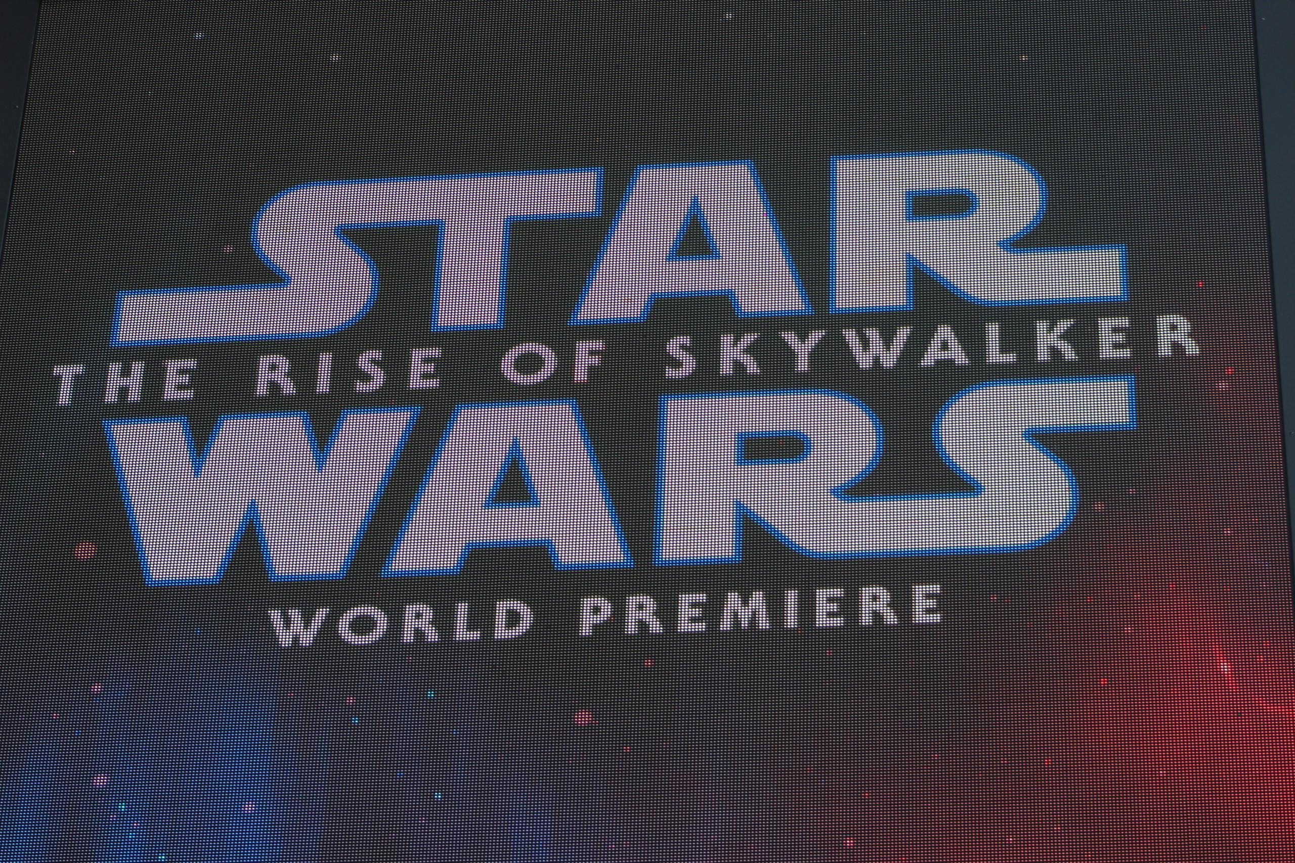 Star Wars: Rise of Skywalker World Premiere Marquee