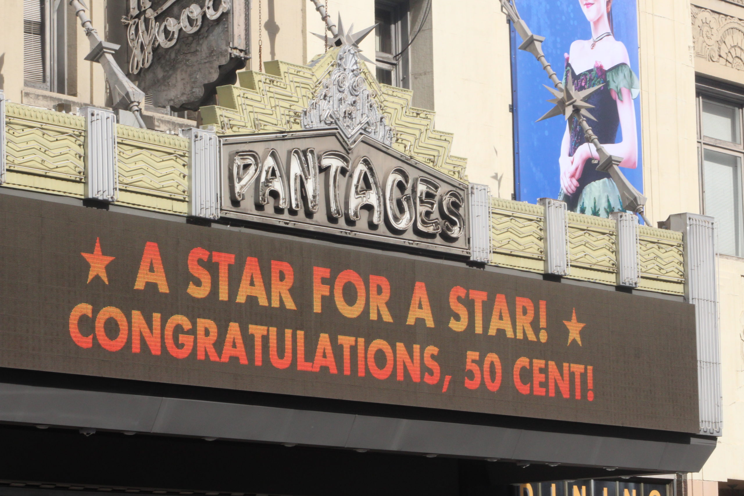 50 Cent's Pantages Marquee