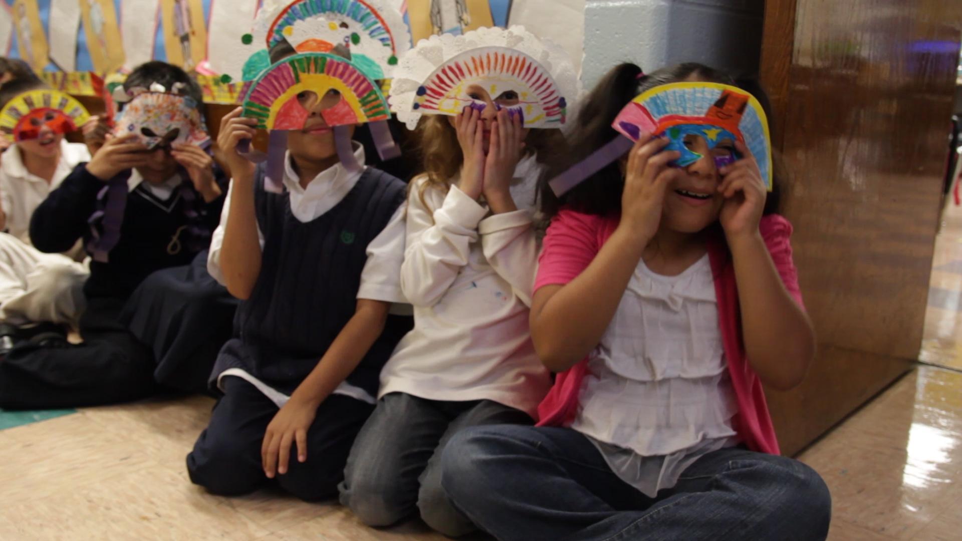 School children in Lillian LaSalle's MY NAME IS PEDRO  (Photo Credit: Sweet 180)