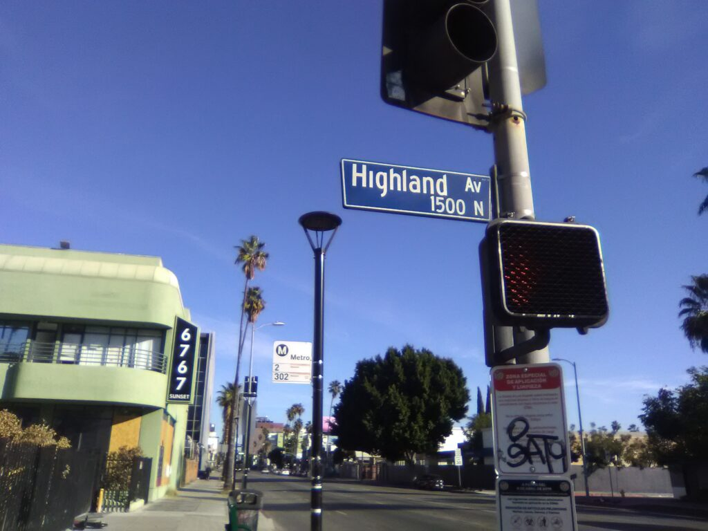 Highland Ave. and Sunset Blvd. Photo: Yevette Renee