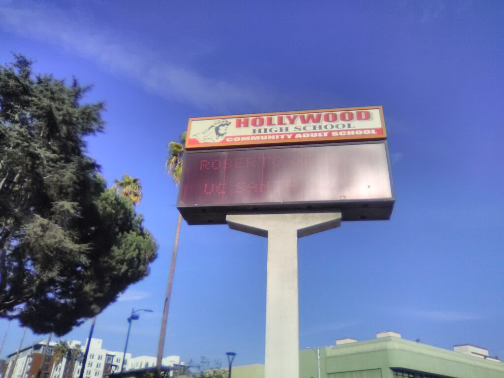 Hollywood High School Photo: Yevette Renee