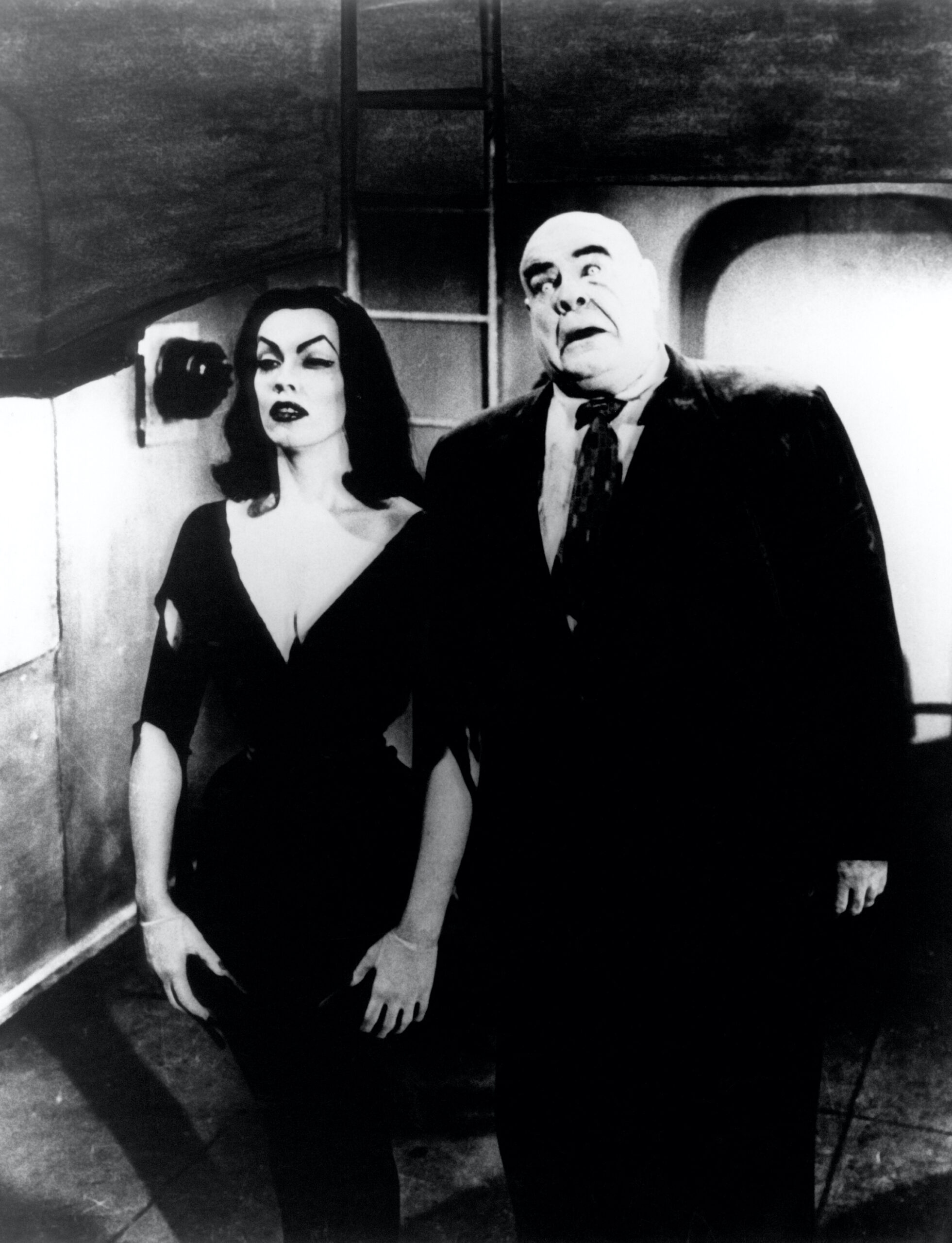Plan 9 from Outer Space (1959)  Directed by Edward D. Wood Jr.  Shown from left: Vampira (aka Maila Nurmi), Tor Johnson