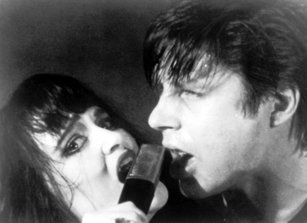 """The Decline of Western Civilization (1981) Directed by Penelope Spheeris Shown: Exene and John Doe (of punk band """"X"""")"""