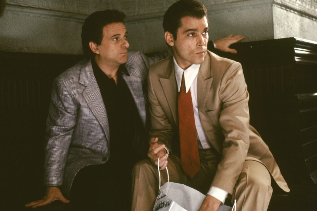 Goodfellas (1990) Directed by Martin Scorsese  Shown: Joe Pesci (as Tommy DeVito), Ray Liotta (as Henry Hill)